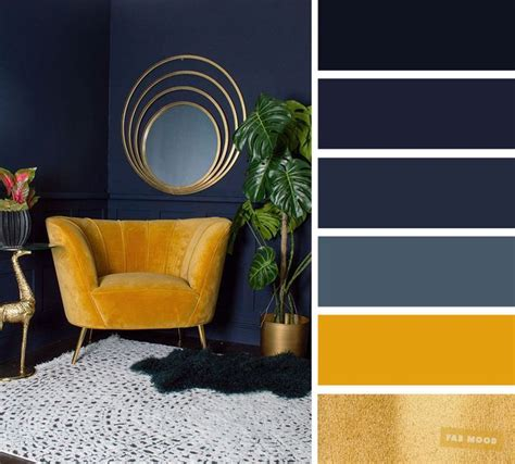 living room color schemes navy blue yellow