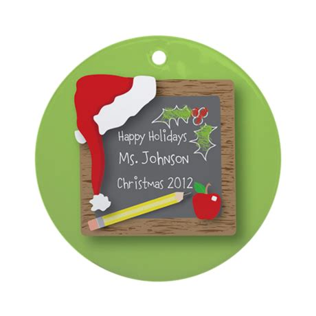 personalized teacher christmas ornament by treetrinkets