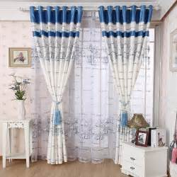 Blue And White Curtains For Living Room Free Shipping Curtain Quality Living Room Curtain Finished