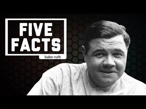 Pdf Why Did Ruth Stop Baseball by Five Facts Ruth