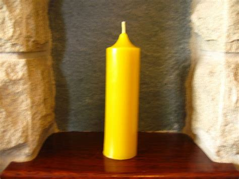 Handmade Candles Uk - handmade beeswax church candle 13 5cm x 3 7cm