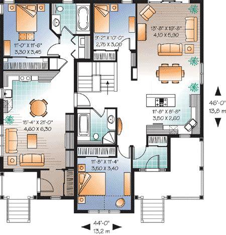 multi generational house plan 21920dr 1st floor master attractive bi generational house plan 21710dr