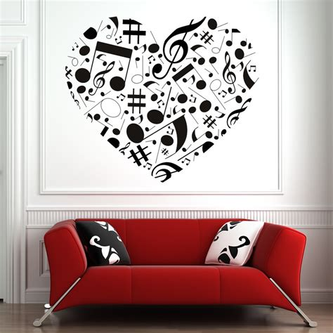 hearts wall stickers musical note wall sticker wall decal transfers ebay