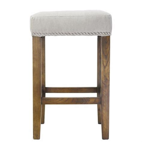 Gray Nailhead Counter Stool by Grey Ash Counter Stool With Silver Nailheads