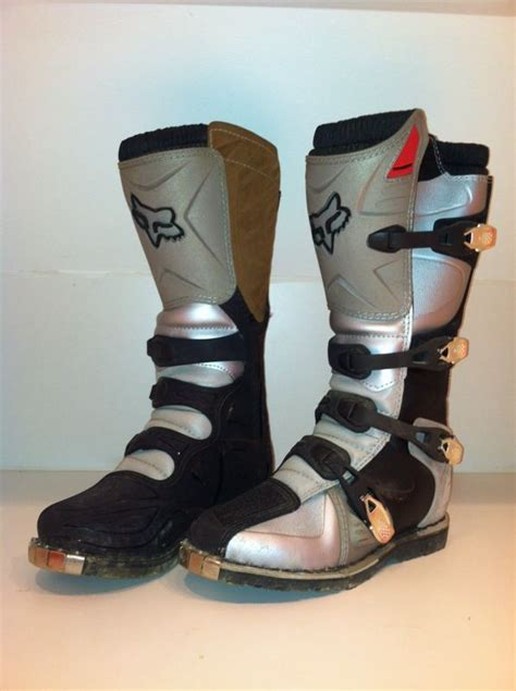fox tracker motocross boots fox racing tracker motocross atv dirt bike boots like new