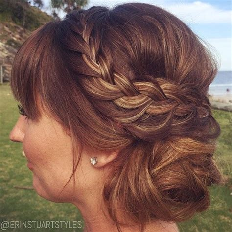 Wedding Hairstyles With Bangs And Braids by Side Updos That Are In Trend 40 Best Bun Hairstyles For 2018