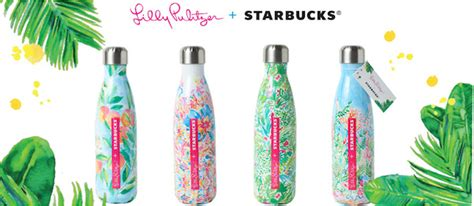 lilly pulitzer starbucks swell bottle tone it up tuesday starbucks lilly pulitzer swell