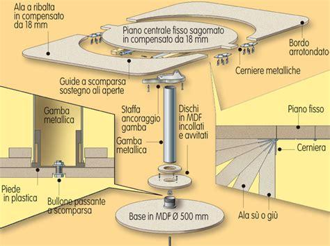 costruire un tavolo allungabile tavolo rotondo allungabile bricoportale fai da te e
