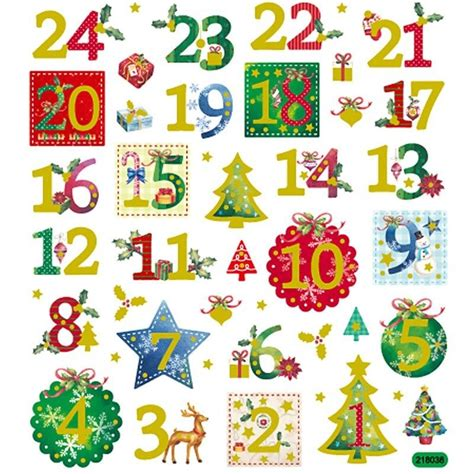 printable numbers 1 24 christmas stickers advent calendar numbers 1 24
