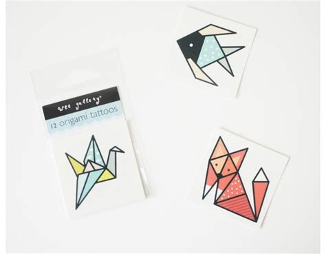 cool little origami temporary tattoos for kids cool mom