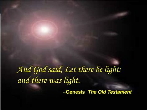 genesis let there be light ppt and god said let there be light and there was