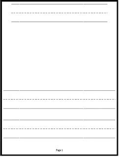 printable kindergarten journal paper free writing journals and paper simply kinder journal