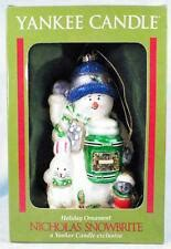 yankee candle christopher snowbrite vtg card with snowman bunny bird and present for gibson ebay