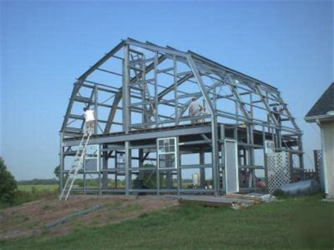 steel metal building  story home gambrel roof