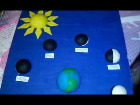 maquetas de lasfaces de la luna maqueta faces de la luna de plastilina youtube