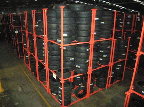 warehouse storage metal stacking tire post rack buy tire