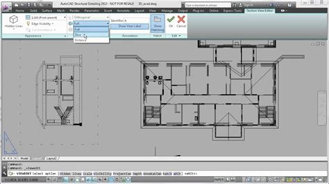 autocad section autocad 2013 section elevation and plan views from 3d