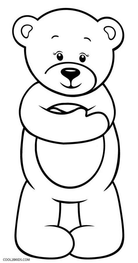 teddy bear coloring pages free printable printable teddy bear coloring pages for kids cool2bkids