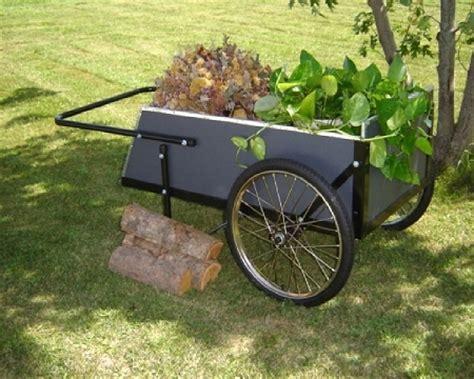 Wooden Garden Cart by 2 Wheel Wooden Garden Cart Ergonomic Durable Large