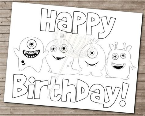 monster birthday coloring page 33 best images about monster birthday ideas on pinterest