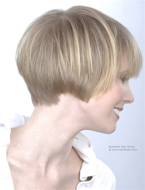 short hairstyle over the ears longer in the back women s hair cut to ear length side view