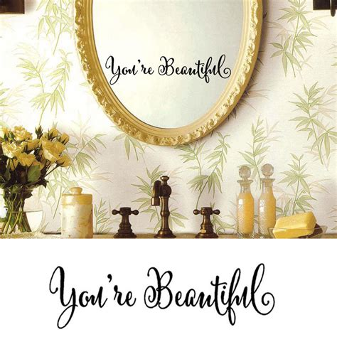 You Are Wall Decor by You Are Beautiful Wall Removable Home Vinyl Window