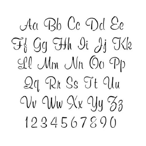 Beautiful Letters beautiful cursive letters letters font
