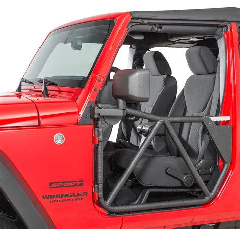 jeep jku tube doors smittybilt 76794 front src gen ii tube doors for 07 18