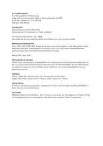 Curriculum Vitae Skills curr 237 culum vitae spanischer lebenslauf