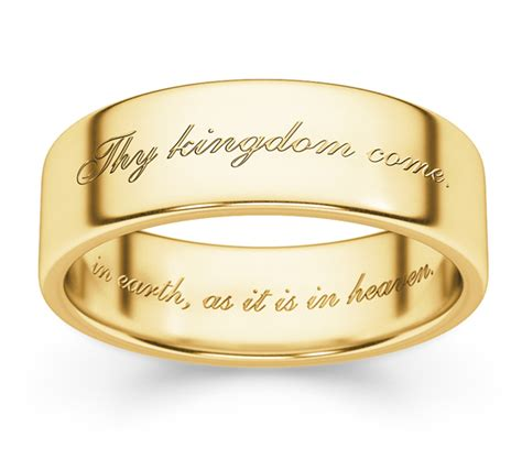 Bible Verses Wedding Rings by Thy Kingdom Come Bible Verse Wedding Ring Yellow Gold