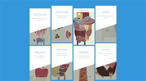 flat design hover effect web design tutorials for creating modern portfolios