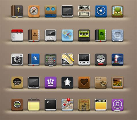 25 absolutely free beautiful ios iphone app icons sets to designbolts