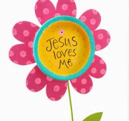 Waverly Home Decor Fabric craft painting jesus loves me flower stake