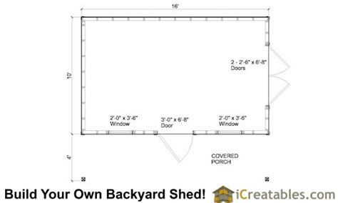 colonial garden shed  porch plans