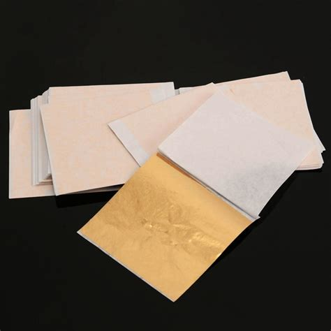 Decorative Papers For Crafting - diy 100 sheets set gold foil leaf aluminum leaf gilding