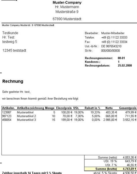 Rechnung It Freiberufler Rechnung Excel Vorlage