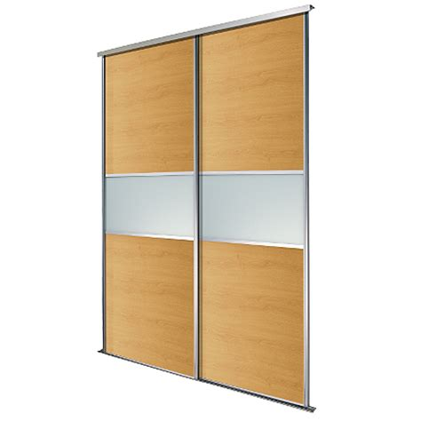 Asda Wardrobe by Silver Frame Oak Glass Sliding Wardrobe Doors