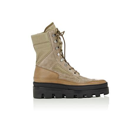 balenciaga boots mens balenciaga combat boots in for lyst