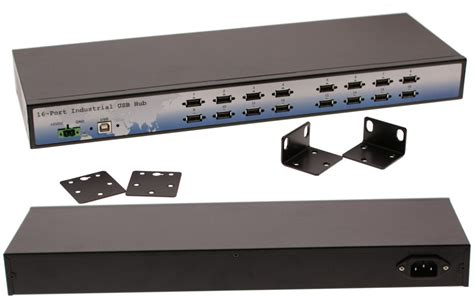 Rack Mount Usb Drive by Industrial 16 Port Usb 2 0 Rack Mount Hub With Built In