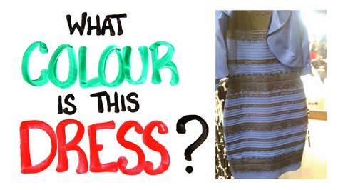 what do different colours what colour is this dress solved with science