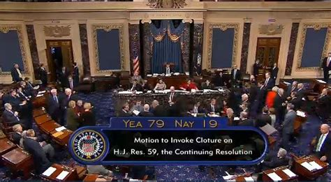 House Votes by Senate Votes For Cloture On House Obamacare Defunding Bill