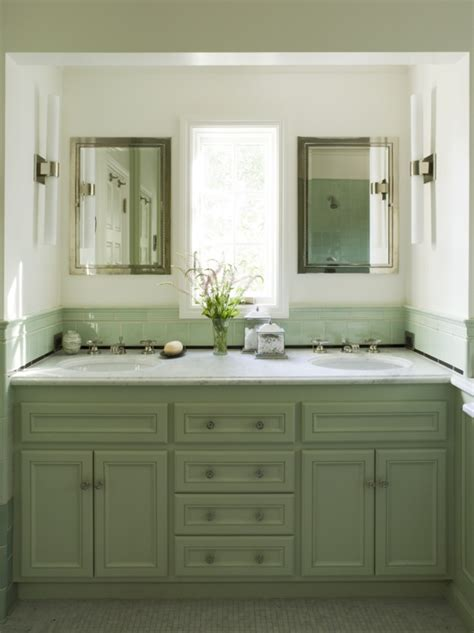 Green Cabinets Mediterranean Bathroom Coddington Design