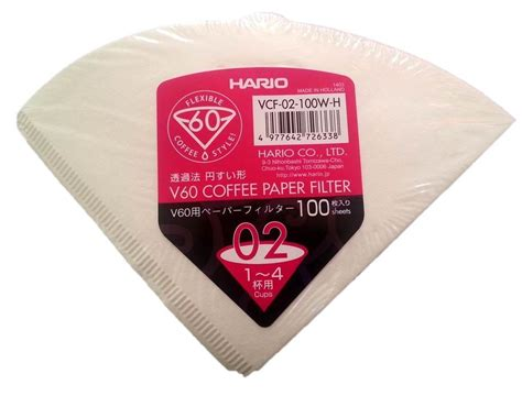 hario v60 02 coffee dripper filter papers vcf 02 100w h