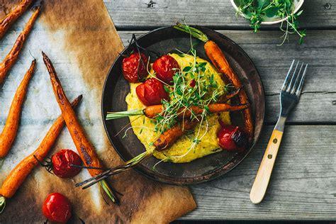 creamy polenta  rustic veggies vegan recipes sbs food