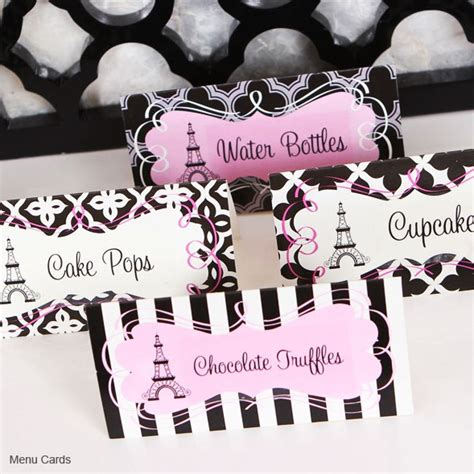 paris themed party kit paris theme party party kit bridal shower favors my