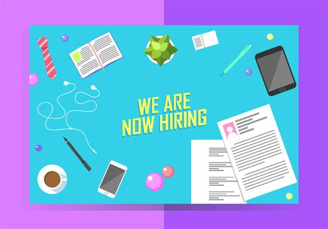 hiring template we are now hiring poster template free vector
