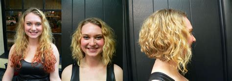 before and after of straight short bob to bridal hair before and after long curly hair to short fun bob flickr