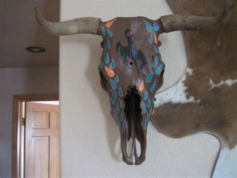 Decorated Cow Skulls For Sale by 91 Best Images About Cow Skulls On Horns Bull