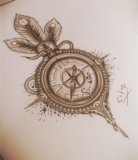 compass tattoos and designs page 70