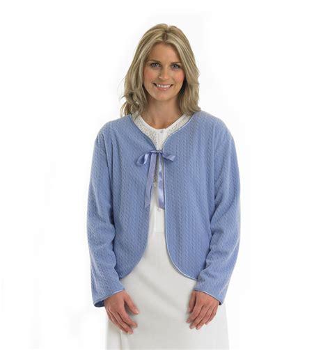 bed jackets for ladies bed jacket womens ribbon tie house coat slenderella ladies